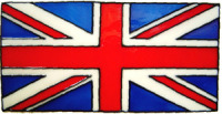 718 - Small Union Flag - Handmade peelable static window cling decoration