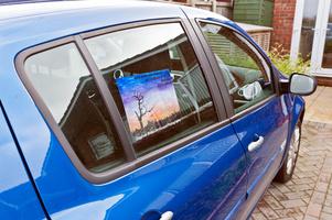 In Car Handmade Peelable Advert