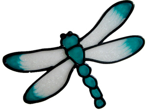 637 - Small Dragonfly - Handmade peelable static window cling decoration