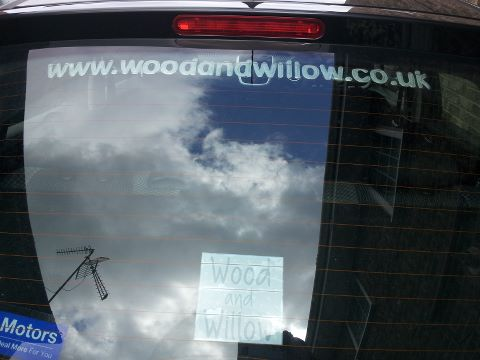 Wood & Willow in car