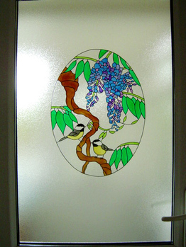 Extra Large Wisteria Panel