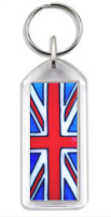 1013 - Flag Rectangle Keyring