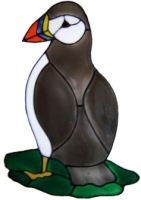 559 - Puffin - Handmade peelable static window cling decoration
