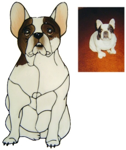 french bulldog coloured to photo