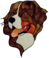 1033 - Bernese Mountain Dog handmade peelable window cling decoration