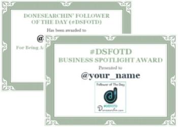 1032 - DSFOTD Winner's Certificate