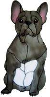 1025 - French Bulldog Window Cling