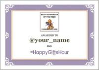 1059C - HappyGiftsHourWinner's Certificate