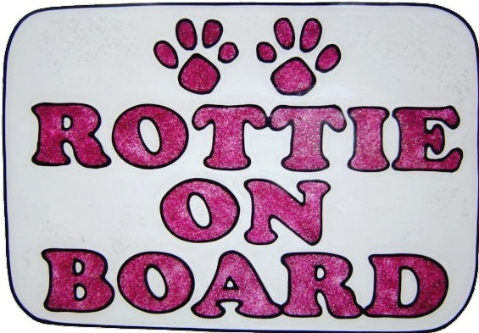 rottie on board