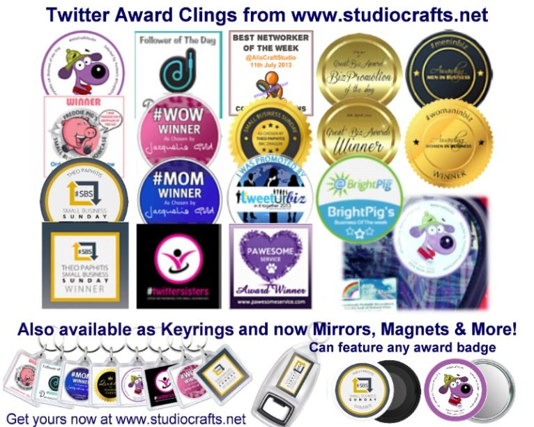 Twitter Award Clings & Products