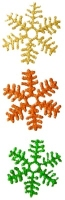 1022 - Set of Three Snowflakes