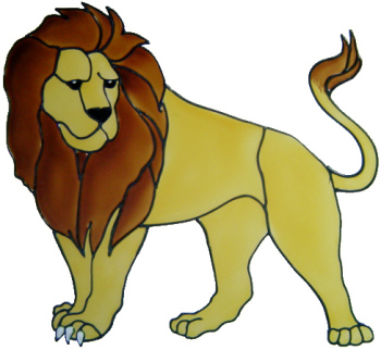 695 - Lion - Handmade peelable static window cling decoration