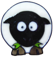 1107 - Diddy Sheep handmade peelable window cling decoration