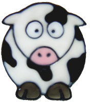 1108 - Diddy Cow handmade peelable window cling decoration