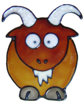 1109- Diddy Goat handmade peelable window cling decoration