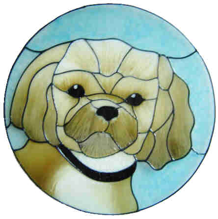 657 - Shih-Tzu Dog - Handmade peelable static window cling decoration