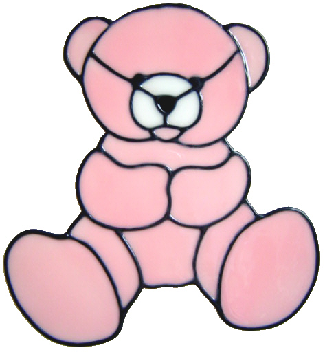 866 - Baby Bear - Handmade peelable static window cling decoration