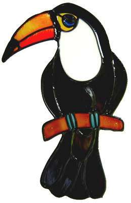 667 - Toucan - Handmade peelable static window cling decoration