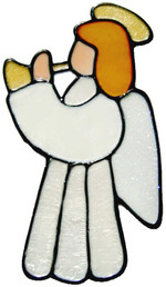 14 - Angel handmade peelable window cling decoration