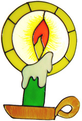 9 - Candlelight  handmade peelable window cling decoration