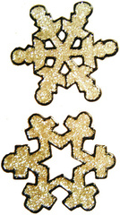 26 - Snowflakes handmade peelable christmas window cling decoration