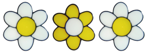 978 - Set of three flowers handmade peelable window cling decoration