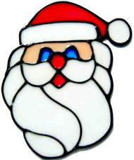 22 - Santa Face christmas window decoration - handmade peelable cling