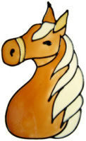 50 - Horse Head - Handmade peelable static window cling decoration