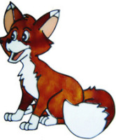 399 - Freddy Fox handmade peelable window cling decoration