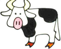 43 - Cow handmade peelable window cling decoration