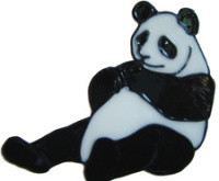 352 - Panda handmade peelable window cling decoration