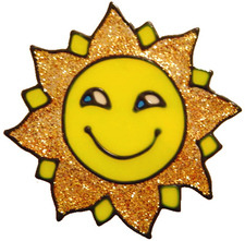335 - Sunshine handmade peelable window cling decoration