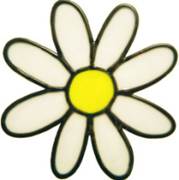 406 - Daisy handmade peelable window cling decoration