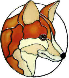 467 - Fox - Handmade peelable static window cling decoration