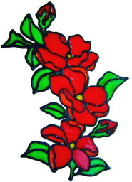 423 - Floral Swag handmade peelable window cling decoration