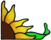 409 - Sunflower Corner handmade peelable window cling decoration