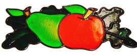 242 - Apples & Pears handmade peelable window cling decoration