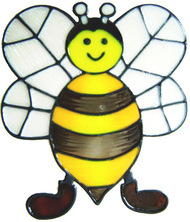 41 - Bumblebee Fun handmade peelable window cling decoration