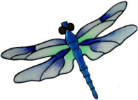 462 - Dragonfly - Handmade peelable window cling decoration