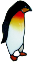 445 - Penguin handmade peelable window cling decoration