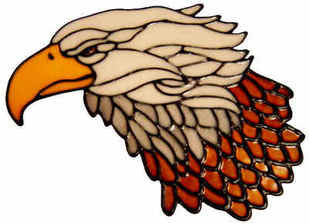 496 - Bald Eagle - Handmade peelable static window cling decoration