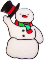 453 - Snowman christmas handmade peelable window cling decoration
