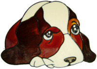 470 - Puppy - Handmade peelable static window cling decoration
