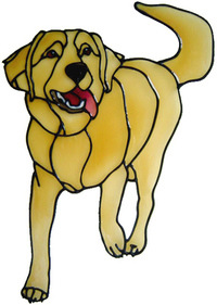 332 - Retriever handmade dogs peelable window cling decoration