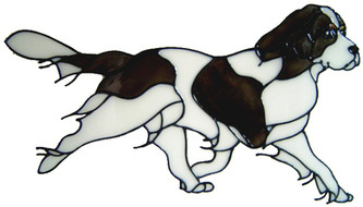525 - Spaniel Dog - Handmade peelable static window cling decoration