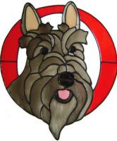 337 - Scottish Terrier handmade peelable window cling decoration