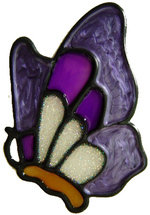 358 - Tiny Butterfly handmade peelable window cling decoration