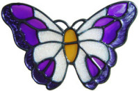 8 - Small Butterfly - Handmade peelable window cling decoration