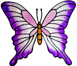6 - Large Butterfly - Handmade peelable static window cling decoration