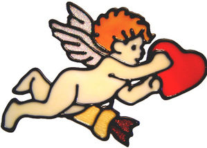 439 - Cherub handmade peelable window cling decoration